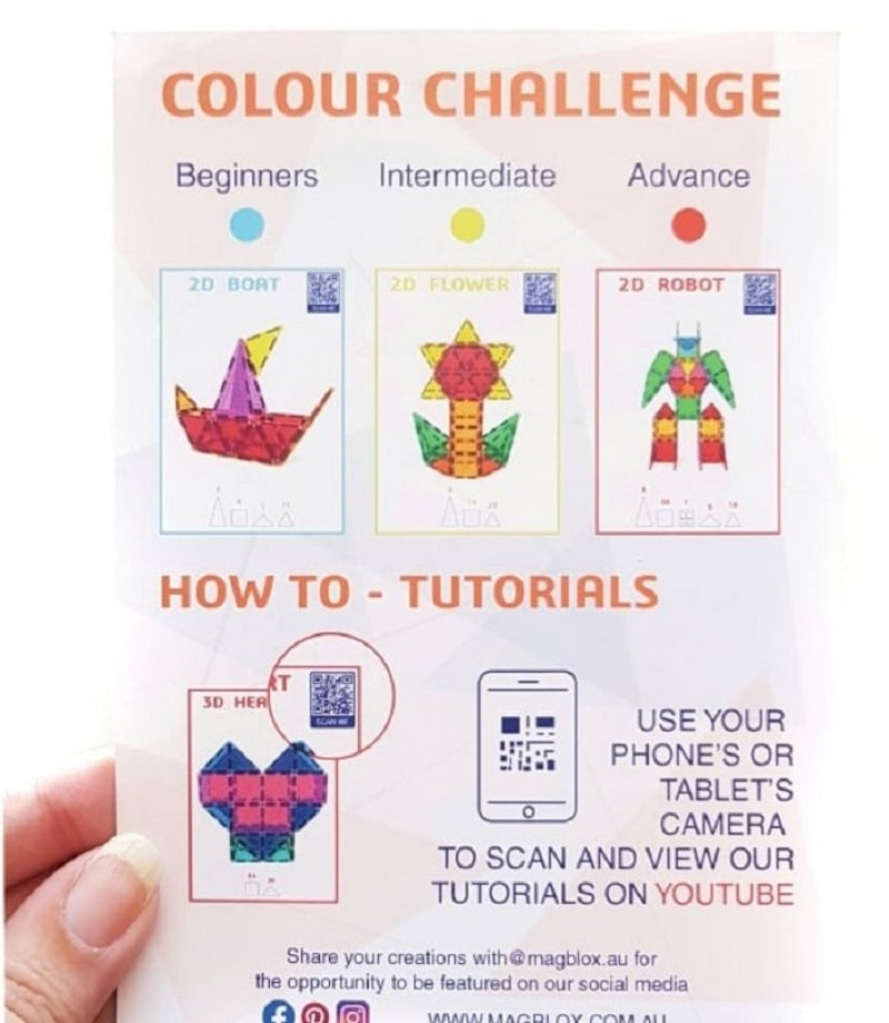 magblox challenge card instructions
