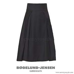 Queen Letizia wore BOGELUND JENSEN Two Fold Skirt