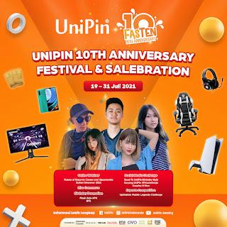 UniPin Bagikan Kebahagiaan Satu Dekade Perjalanan Lewat Festival Online di 3 Negara