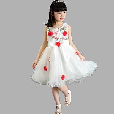 vestidos de niña color coral
