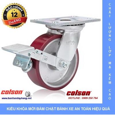 Giá bánh xe kéo hàng chịu lực Colson Caster Mỹ www.banhxepu.net