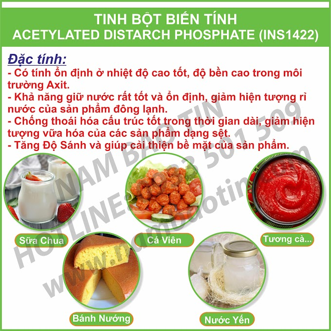 TINH BỘT BIẾN TÍNH ACETYLATED DISTARCH ADIPATE - INS1422