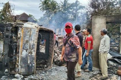 Gegara Hindari Kucing, Truk Tabrak 7 Rumah Warga hingga Terbakar, 2 Orang Tewas