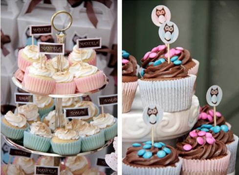 Decoração para chá de bebê - cupcakes