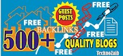 500+ Quality Websits  Accepts Guest Posts for traffic Backlinks