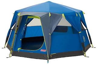 Coleman Octago Tent Doors Open