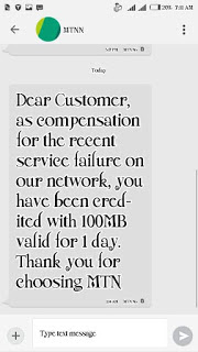 Free 100MB compensation data from MTN - sooloaded.net