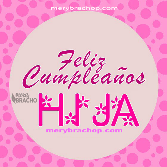 imagen rosa para cumpleaños de mi hija linda tarjeta