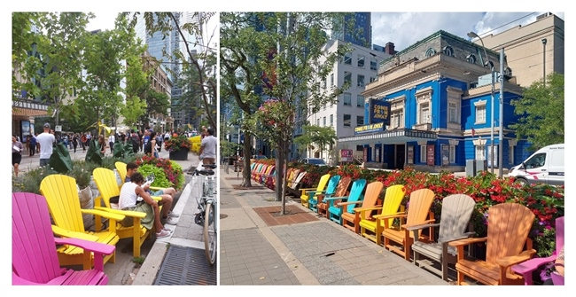 King Street West during TIFF: 2019 vs 2021 - 'Come From Away' still playing