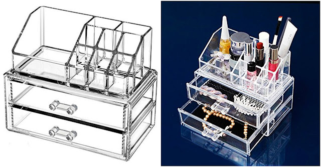 Amazon: Acrylic Makeup Organizer only $10!