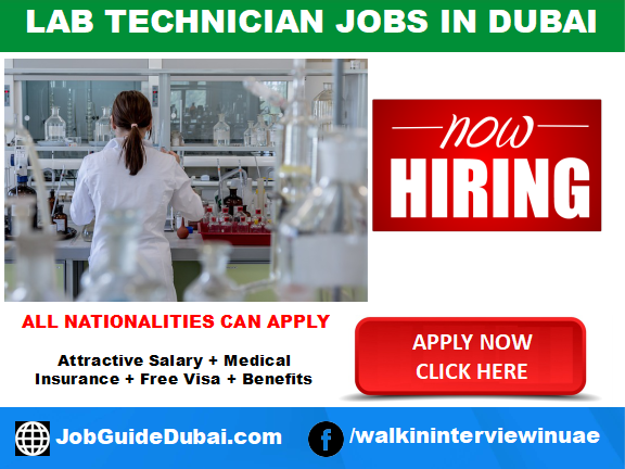 FREE VISA Lab Technician jobs in UAE with school and university  with attractive salary and benefits in Dubai