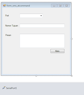 How to create sms gateway application with ATcommand and vb.net express