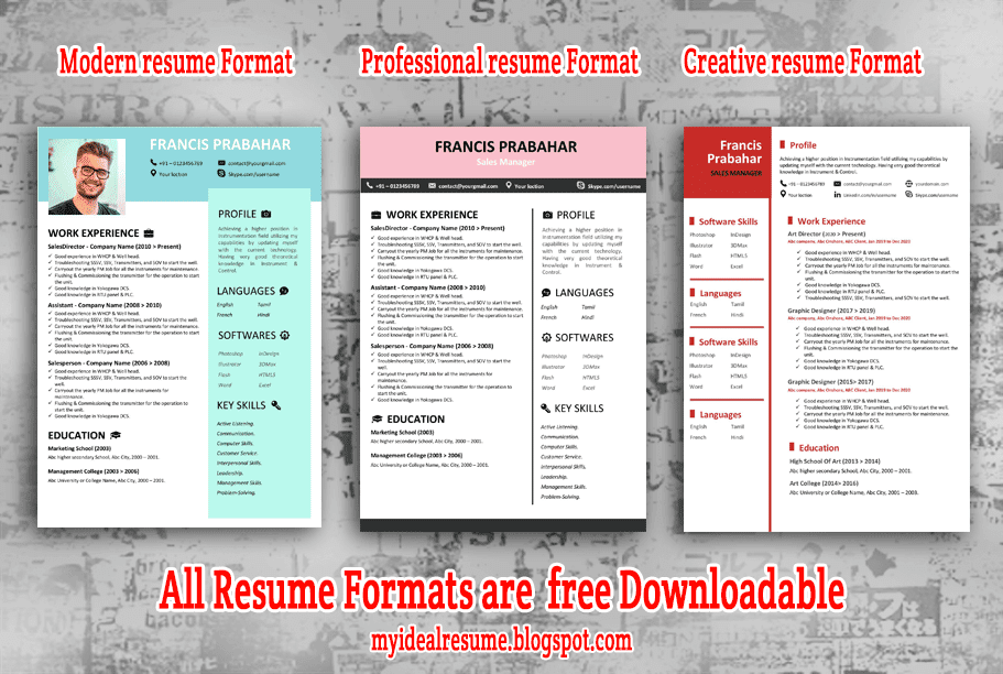 Best Resume Format For 2020 The Ideal Resume And Tips My Ideal