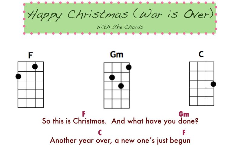 happy christmas chords