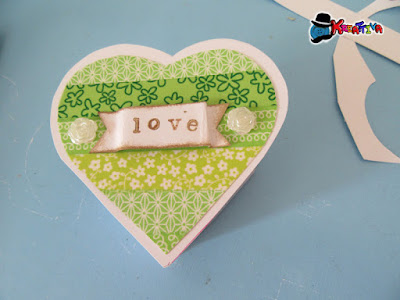 Scatolina cuore con washi tape