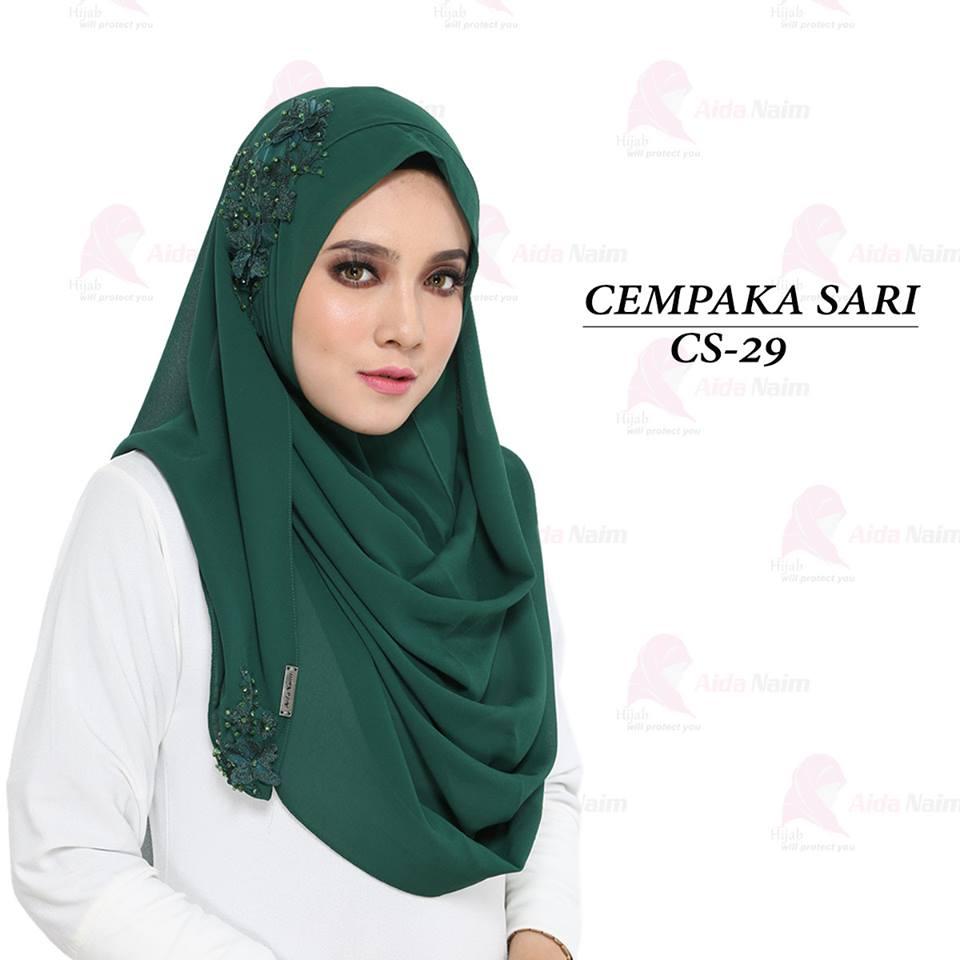 Najjah Shoppe Cempaka Sari Instant Shawl By Aida Naim