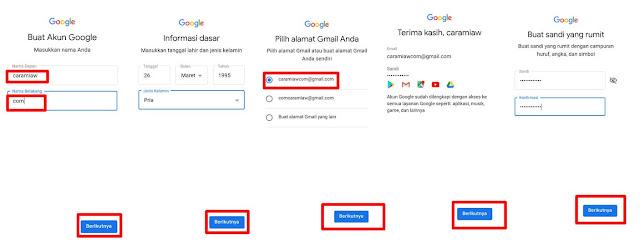 tambah akun google