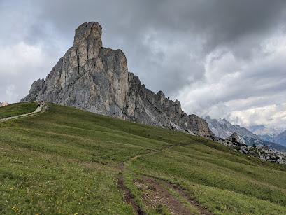 View toward Monte Nuvolau from Passo Giau.
