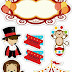 Circus for Babies Free Printable Cake Toppers.