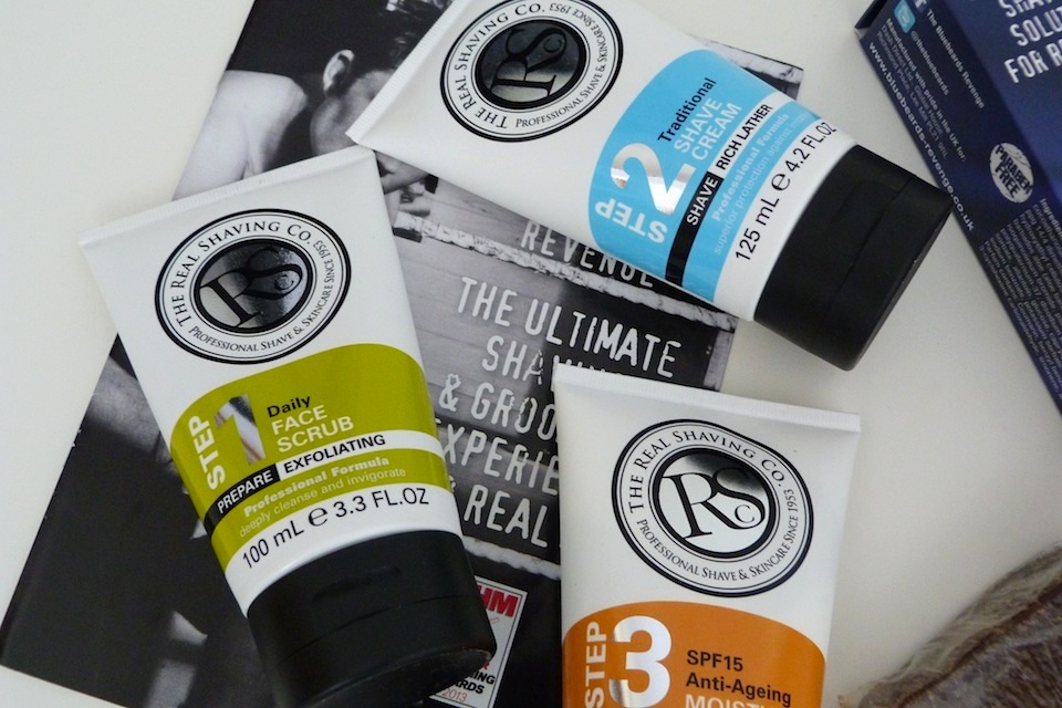 an image of the real shaving company gift set