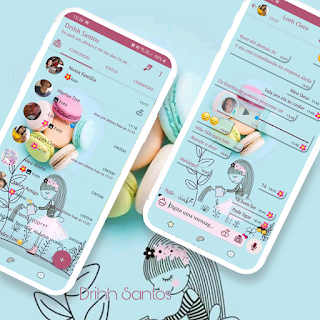 Girl Water Trees Theme For YOWhatsApp & Fouad WhatsApp By Driih Santos