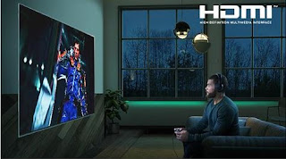 person playing a game on tv