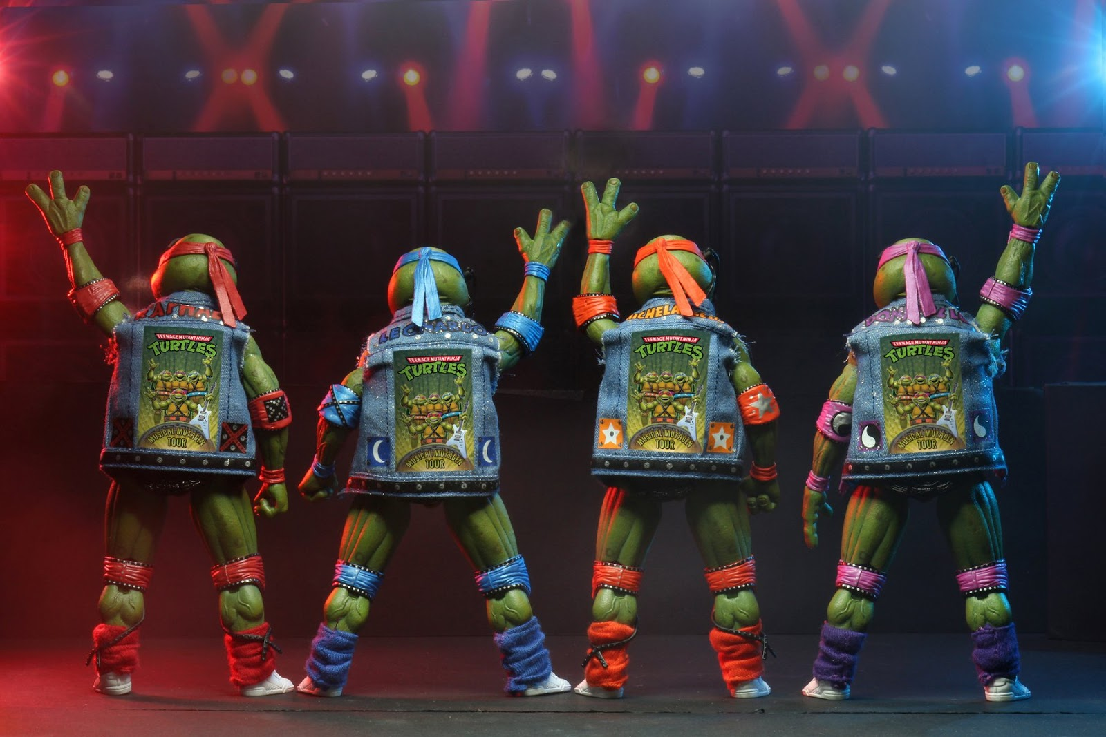 The Blot Says Sdcc 2020 Exclusive Teenage Mutant Ninja Turtles Musical Mutagen Tour Action Figure 4 Pack By Neca