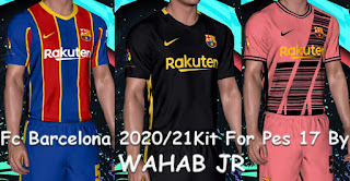 FC Barcelona Kits 2020-21 For PES 2017 by Wahab Jr