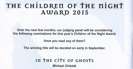 The Angel of Highgate is one of six shortlisted titles for the Dracula Society's Children of the Night Award