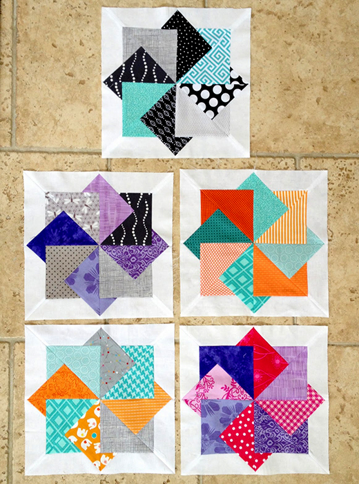 Super Card Trick Block Free Tutorial Designed by Ellie Roberts of Craft Sew Create