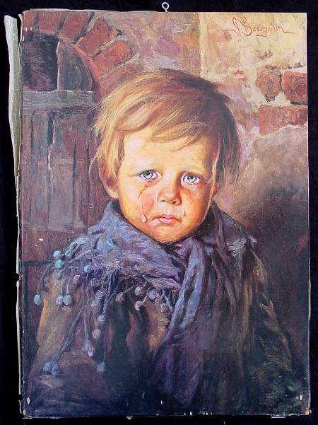 Cuadros Famosos Punto De Cruz The Crying Boy Giovanni Bragolin