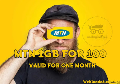 MTN 1GB For 100 Naira Valid For 1 Month [HOT]