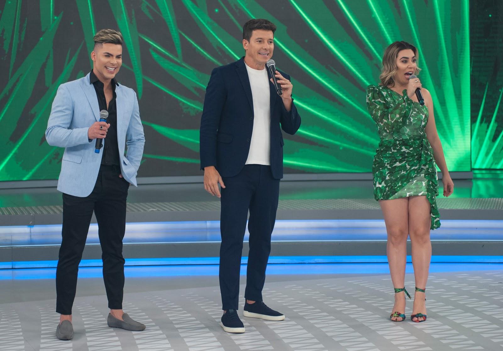 Em especial sobre maquiagem artística e transformações corporais, Rodrigo  Faro recebe novo Ken Humano, Naiara Azevedo e outros famosos no palco