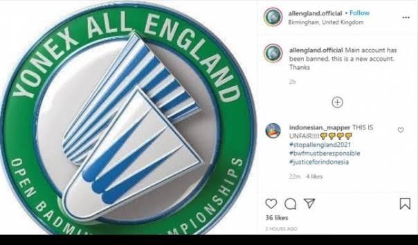Bukti Kekuatan Netizen RI, Akun Instagram Resmi All England Hilang