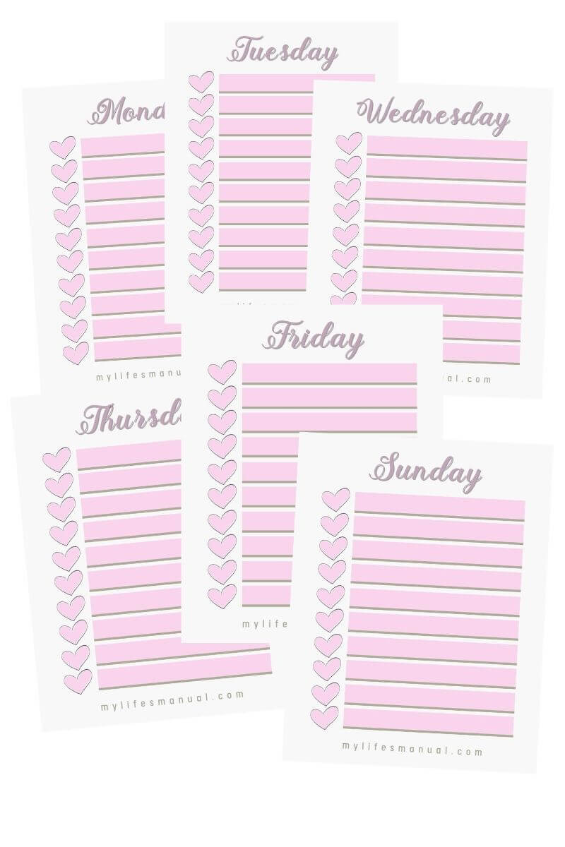 printable planner checklists