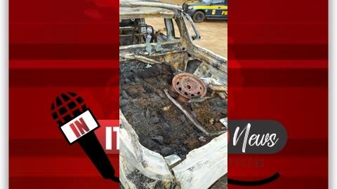 PRF apreende maconha em veículo queimado em Ponta Porã (MS)