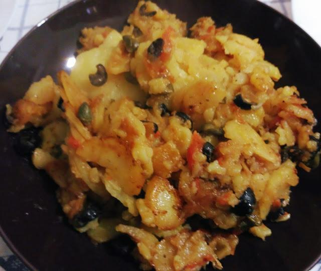 patate alla mediterranea olive capperi pomodorini