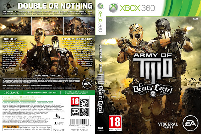 Capa Army Of Two The Devils Cartel Xbox 360