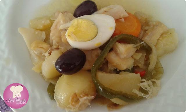 bacalhau com legumes