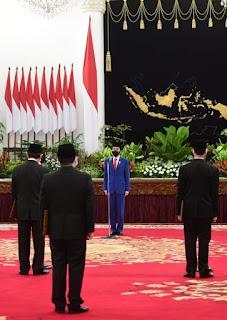 Presiden Jokowi Lantik Kepala BNN dan Kepala Badan Restorasi Gambut dan Mangrove