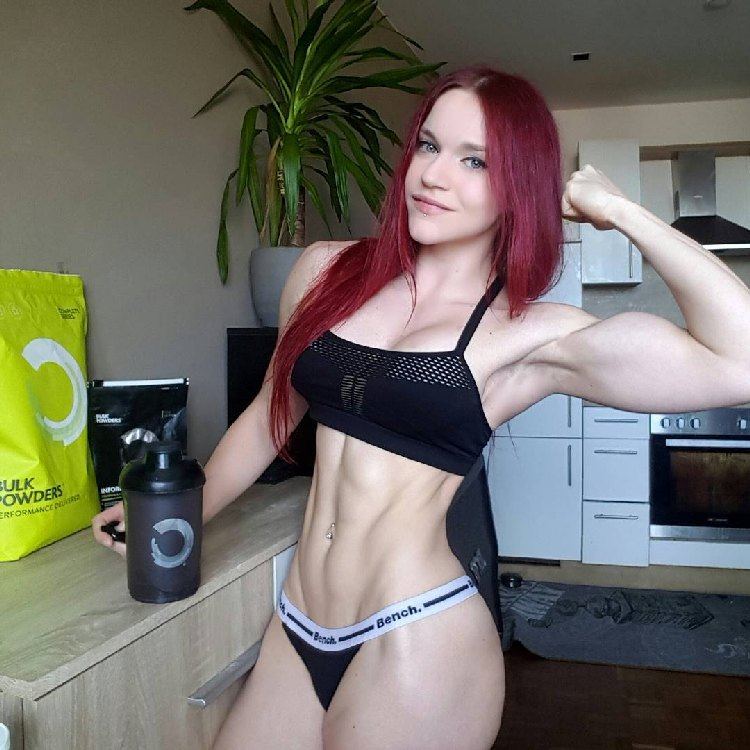 Stefanie Macherham Austrian redhead Fitness Model