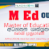 Master of Education Degree Programme. OUSL.