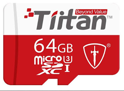 TIITAN 64GB UHS Class 3 MicroSDXC Memory Card