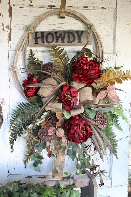 lasso wreath - western home decor