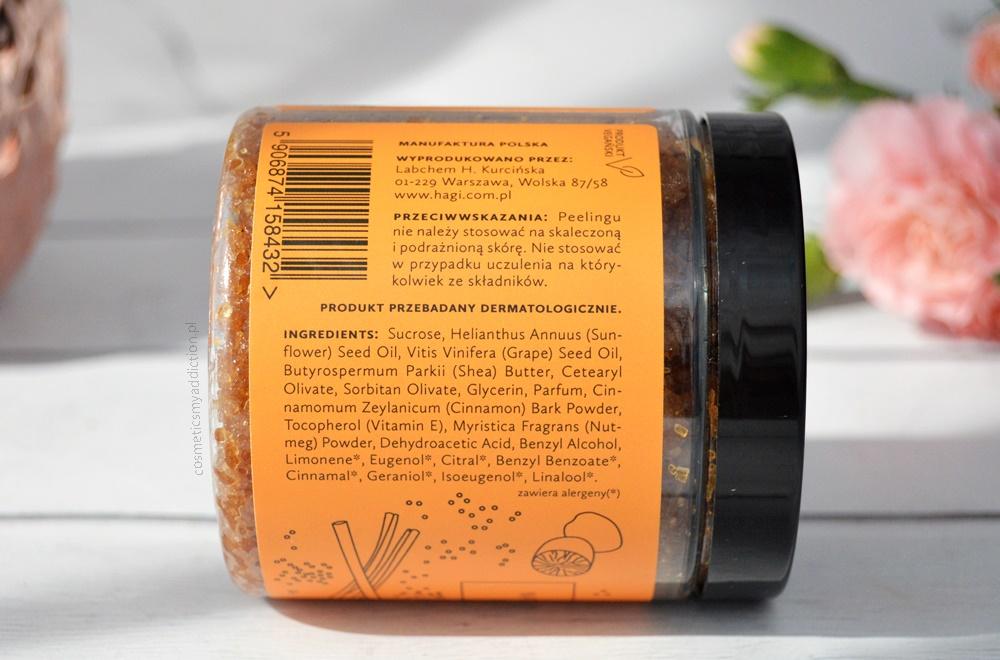 Hagi, naturalny scrub do ciała z gałką muszkatołową i cynamonem
