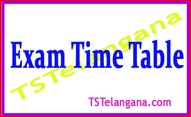 JNTU Anantapur B.Tech Reg / Supply 2018 Exam Time Table