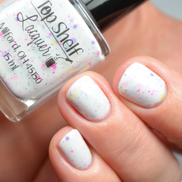 white crelly nail polish