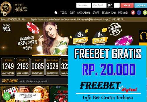 FREEBET GRATIS TANPA DEPOSIT – ASIAN4D