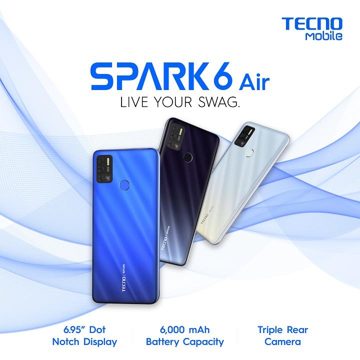 TECNO Spark 6 Air: 8.8 Sale
