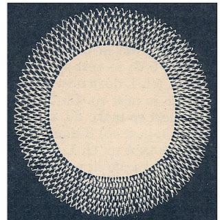 Knot Stitch Bordered Linen Doily Pattern